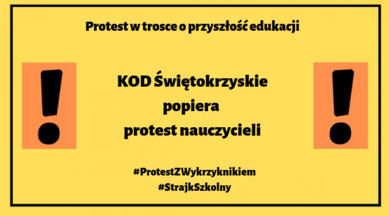 Solidarni z nauczycielami