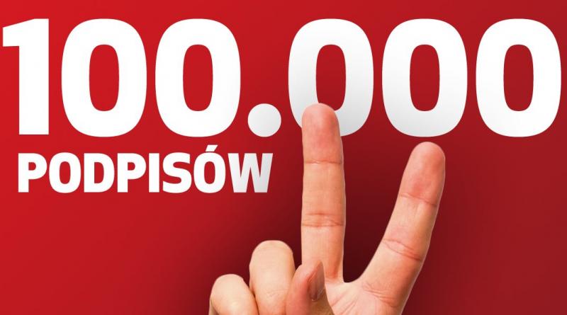 100000 podpisów