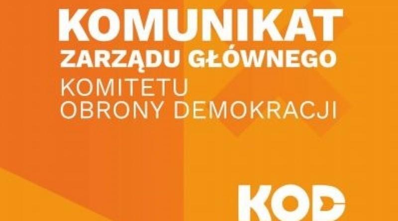 KOD: Forsują wybory, łamią konstytucję