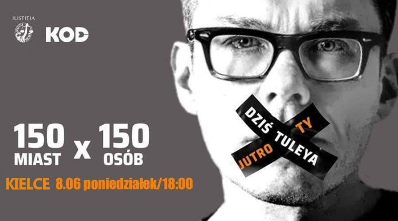 Pikieta KOD. 150×150 – Dziś Tuleya Jutro Ty