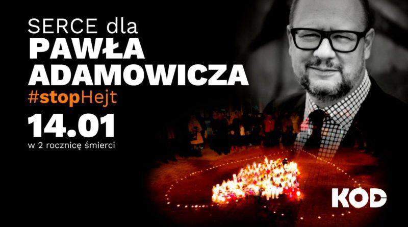 Serce dla Pawła Adamowicza na kieleckim rynku