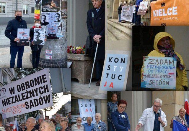 Kielce solidarne z represjonowanymi Sędziami. Kielce dziękują IUSTITII.